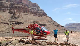 Helikopter i Grand Canyon