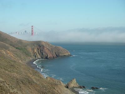 Naturen omkring San Francisco är vacker - och lättillgänglig. Denna vy bjuds cyklister och bilister på väg till Point Bonita Lighthouse